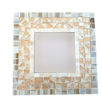 Mosaic Wall Mirror / Beach House Decor / Metallic Mirror