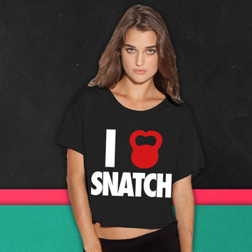 I Love Snatch boxy tee