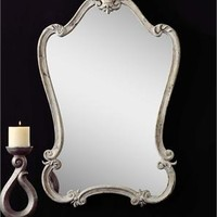 Uttermost Walton Hall Antique White Mirror