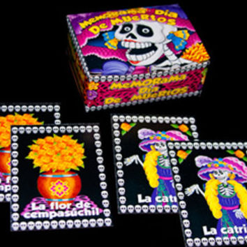 Skeleton Loteria Card Game, Day of the Dead Loteria, Puzzles & Games