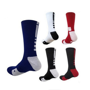 1 Pair Professional Basketball Elite Socks Fashion Thicken Towel Outdoor Sports Athletic Sport Socks For Men [9305763015]
