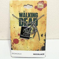 Licensed cool AMC The Walking Dead KEEP CALM & KILL WALKERS 3 Weapons Pendant Charms Necklace