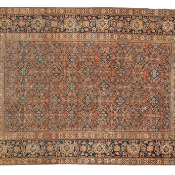 4x6 Distressed Antique Malayer/Feraghan Rug