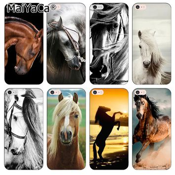 MaiYaCa silicone black soft TPU phone Accessories cover For iPhone 5 5s SE Case New horse has character of the horse