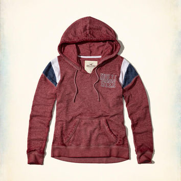 Girls Burnout Logo Hoodie | Girls New Arrivals | HollisterCo.com