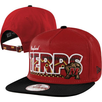 New Era Maryland Terrapins Team Tribal 9FIFTY Adjustable Strapback Hat