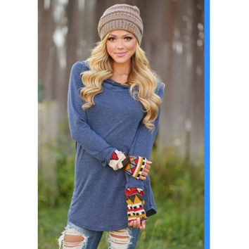 Hot Sale Long Sleeve Patchwork Hats T-shirts [7322494785]