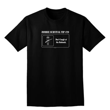 Zombie Survival Tip # 29 - Redneck Adult Dark V-Neck T-Shirt