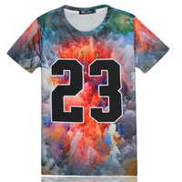 Tee 3D Short Sleeve Couple Round-neck T-shirts = 4810563908