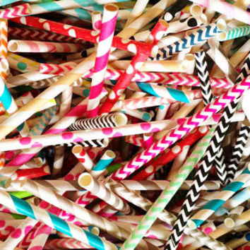 100 Party Drinking Straws. Paper Straw. Birthday. Wedding.Table Decoration. Rainbow. Chevron. Stripe. Polka Dots. Free Shipping
