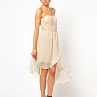 Oasis Lace Bodice Bandeau Dress