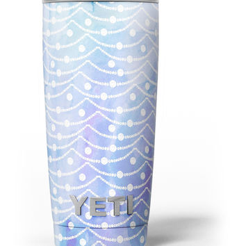 Blue and Purple Watercolor Waves Yeti Rambler Skin Kit