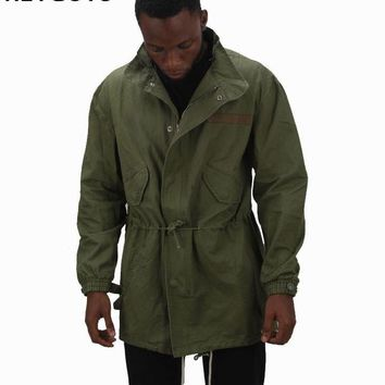 high street warm  GREEN Jacket Hip Hop Winter Jacket Men Coat fashion men Casual jacekts Oversize