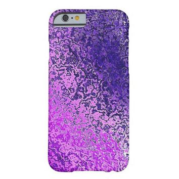 Chic Purple Shimmer Barely There iPhone 6 Case