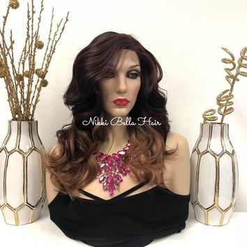 """Brown Ombre' Front Lace Wig 14"""" 