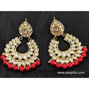 Kundan replica Earring - Design 1