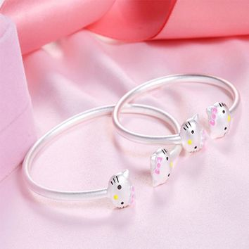 SOXY Kitty bracelets For Women Child Parent-child Bracelet Hello Kitty Love bracelets & bangles Women jewelery Kids Bangle
