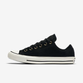 CONVERSE CHUCK TAYLOR ALL STAR SUEDE AND FAUX SHEARLING LOW TOP