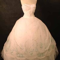 UNBELIEVABLE Strapless Early 60's Ball Gown W/ Hoop VINTAGEOUS VINTAGE CLOTHING