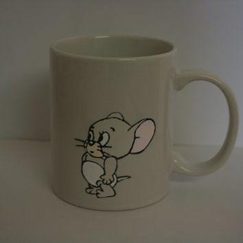 SPIKE and NIBBLES from tom and jerry.  childhood cartoon inspired hand painted MUG