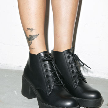 Wanted Knockout Boots Black