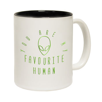 123t USA You Are My Favourite Human Alien Funny Mug