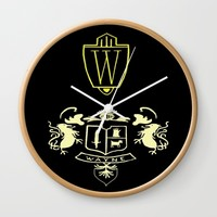Wayne Enterprises Wall Clock by Sierra Christy Art