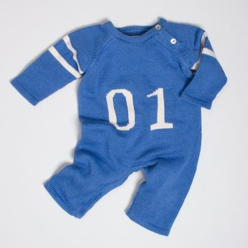 "Estella Organic Baby Sports Clothes - Estella ""01"" Knit Romper"
