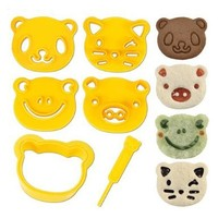 CuteZCute Animal Friends Food Deco Cutter and Stamp Kit:Amazon:Kitchen & Dining