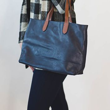Mariah Medium Tote - Navy