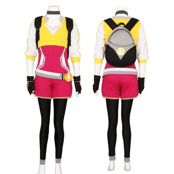 Halloween  Women's Pokemon Go Trainer Uniform Team Valor Instinct Mystic Cosplay Costume High Quality Deluxe Custom Made