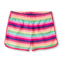 Girls Printed Knit Dolphin Shorts | The Children's Place