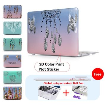 2017 New Nice Colorful Dream Catcher Print Laptop Case For Apple Mac Book Pro 13 15 12 Retina Cover For Macbook Air 13 11 Case