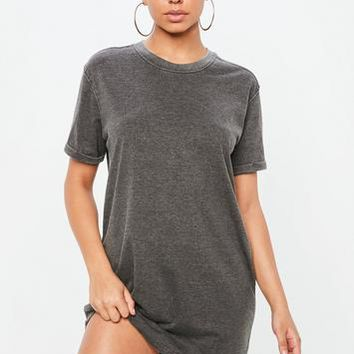Missguided - Petite Grey T Shirt Dress