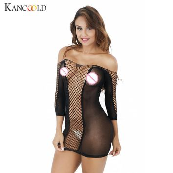 Transparent Sexy Mesh Seamless Bodysuit Jumpsuit Women's One Piece Sheer Lace  Underwear One Piece Sleepwear Teddy Lingerie 301