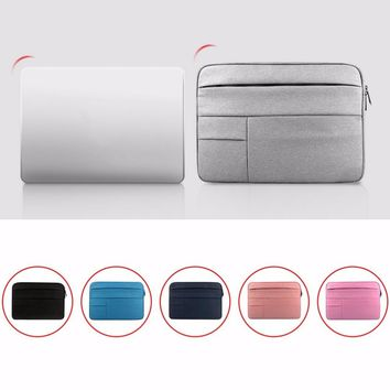 11.6 12 13 14 15 15.6 inch Laptop Sleeve Waterproof Laptop Bag Case Solid Computer Cover For Dell HP Acer Lenovo For MacBook