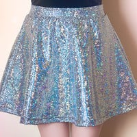 Silver Astro Draco Skater Skirt (made to order)