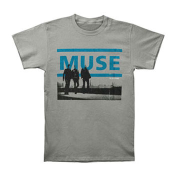 Muse Men's  Resistance 2010 Tour Slim Fit T-shirt Grey Rockabilia