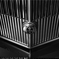 Packard 12 grille in black and white lines 5x7 moody classic car photo