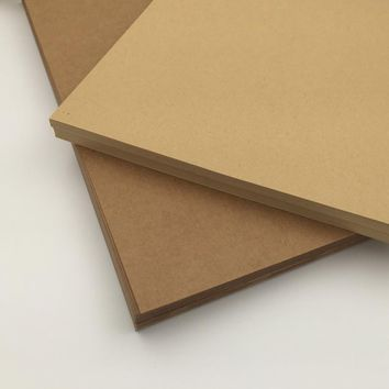 FREE SHIPPING A4 Brown Kraft Paper Paperboard Cardboard Card Blank 100gsm 150gsm 250gsm 350gsm
