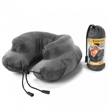 AIR EVOLUTION INFLATABLE NECK PILLOW GREY