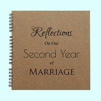 Reflections On Our Second Year of Marriage- Book, Large Journal, Personalized Book, Personalized Journal, , Sketchbook, Scrapbook, Smashbook