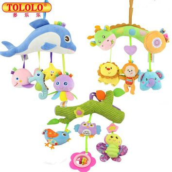 TOLOLO Baby Crib Musical Mobile Cot Bell Music Box Baby Bed Rattles Kids Mobility Toys Learning Education Newborn Kids Gift