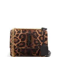 Sunset small leopard-print calf-hair bag | Saint Laurent | MATCHESFASHION.COM UK