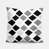 black and white diamond pillow 2, Live Heroes