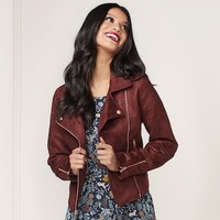 LC Lauren Conrad Runway Collection Moto Jacket - Women's | null