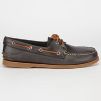Sperry Top-Sider Authentic Original Cylcone Leather Mens Boat Shoes Grey  In Sizes