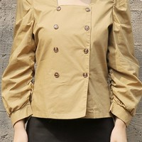 Trench Open Blouse