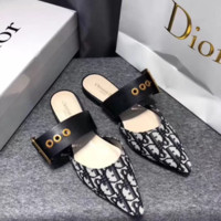 Dior Pointed flat-soled slippers