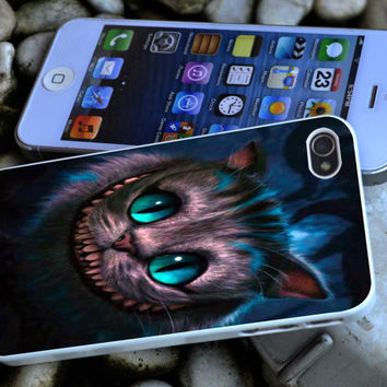 Cheshire cat iPhone 4 4S iPhone 5 5S 5C and Samsung Galaxy S3 S4 Case
